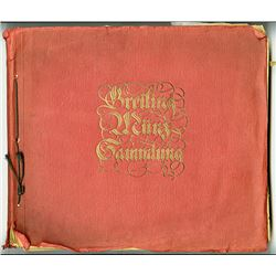 Zigarettenfabrik Greiling, 1929, Large Collection of 625+ Embossed Cards Replica World Coins in Book