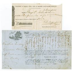 Insurance related Documents, ca.1854-1871.