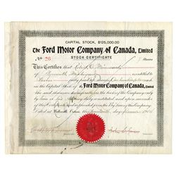 Ford Motor Company of Canada, Limited, Issued December 17th, 1904 The First Day of the Company, Hist