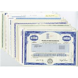 Lot of 32 different Aviation, Space, Tech & Communication Stock Certificates.