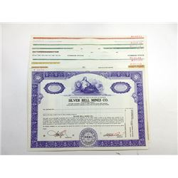 Scripophily Group of 10 Specimen mining Stock and Bond Certificates, ca.1960-80's.
