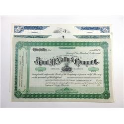 Lot of 3 Specimen Stock Certificates, Esquire, Inc., 1982; Parker Pen Co.; and Rand McNally & Co. Tr