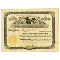 Gainesville Traction Co., 1918 Issued Stock Certificate
