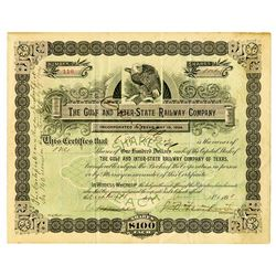 Gulf and Inter-State Railway Co., 1898 Issued Stock Certificate