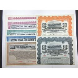Texas and Pacific Railway Co. Group of Specimen Bonds