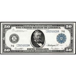 1914 $50 Federal Reserve Note Chicago