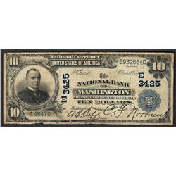 1902 $10 The National Bank of Washington Note CH# 3425