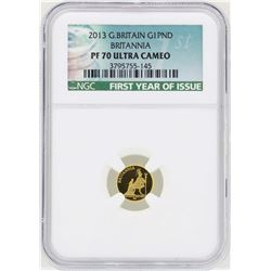2013 Great Britain 1 Britannia Pound Gold Coin NGC PF70 Ultra Cameo