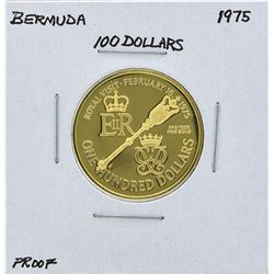 1975 Bermuda $100 Gold Proof Coin