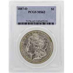 1887-O $1 Morgan Silver Dollar Coin PCGS MS62