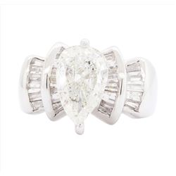 14KT White Gold Ladies 3.07 ctw Diamond Ring