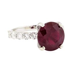 14KT White Gold 5.80 ctw Ruby and Diamond Ring