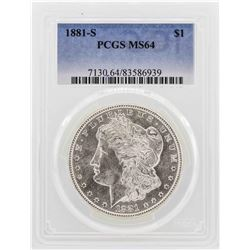 1881-S $1 Morgan Dollar Coin PCGS MS64
