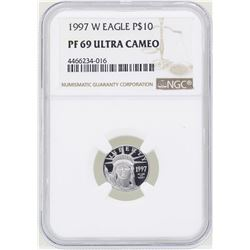 1997-W $10 American Platinum Eagle Coin NGC PF69 Ultra Cameo