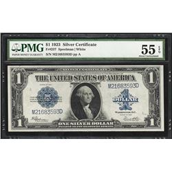 1923 $1 Silver Certificate Note Fr.237 PMG About Uncirculated 55EPQ