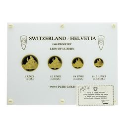 1988 Switzerland Helvetia Proof Gold Coin Set