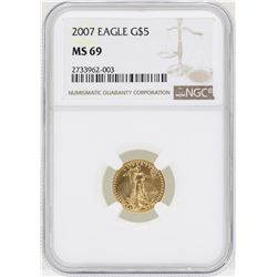 2007 $5 American Gold Eagle Coin NGC MS69