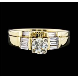 14KT Yellow Gold 0.85 ctw Diamond Band and Ring