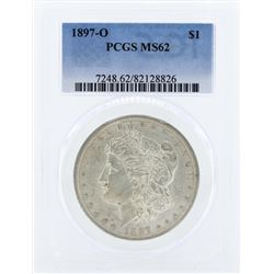 1897-O $1 Morgan Silver Dollar Coin PCGS MS62