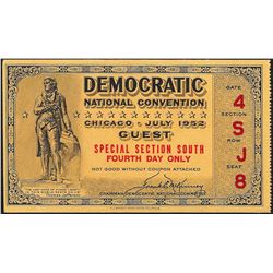 1952 Democratic National Convention Ticket