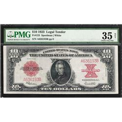 1923 $10 Poker Chip Legal Tender Note Fr.123 PMG Choice Very Fine 35 Net