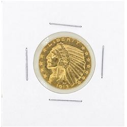 1913 $5 Liberty Head Half Eagle Gold Coin