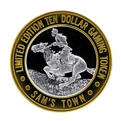 .999 Silver Sam's Town Las Vegas Nevada $10 Casino Limited Edition Gaming Token