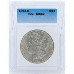 1894-O $1 Morgan Silver Dollar Coin ICG MS62
