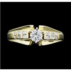 14KT Yellow Gold 0.82 ctw. Diamond Ring