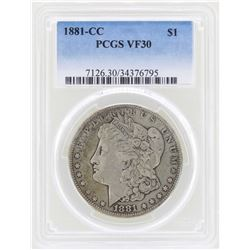 1881-CC $1 Morgan Silver Dollar Coin PCGS VF30