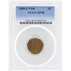 1909-S VDB Lincoln Wheat Penny Coin PCGS XF40