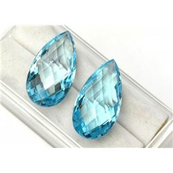 Natural Sky Blue Topaz Pair 15x7 MM - FL
