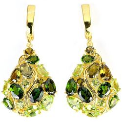 NATURAL CH-DIOPSIDE PERIDOT TOURMALINE Earrings