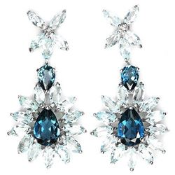 Natural London & Sky Topaz Earrings