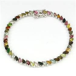 Natural Fancy Color Marquise Tourmaline Bracelet