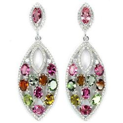 NATURAL MULTI COLOR TOURMALINE Earrings