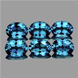 Natural  Santa Maria Blue Aquamarine 6X4 MM - FL-VVS1