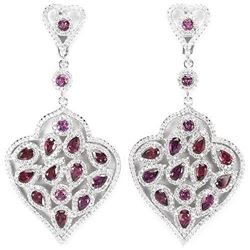 NATURAL PURPLE PINK RHODOLITE GARNET Earrings