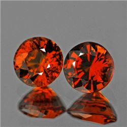 Natural Mandarin Orange Spessartite Garnet Pair 5.50 MM