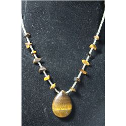 Natural Tiger Eye Gemstone Necklace