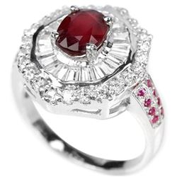 Natural Red Ruby Ring