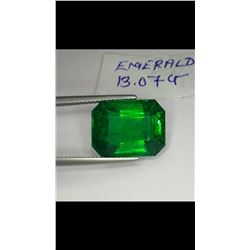 Natural Deep Forest Green Emerald 13.07 Carats