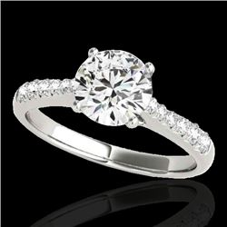 1.25 CTW H-SI/I Certified Diamond Solitaire Ring 10K White Gold - REF-200A2X - 34819