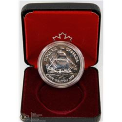 1979 CANADIAN PROOF SILVER DOLLAR IN DISPLAY