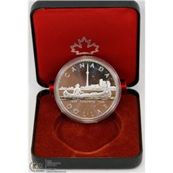 1984 CANADIAN PROOF SILVER DOLLAR IN DISPLAY