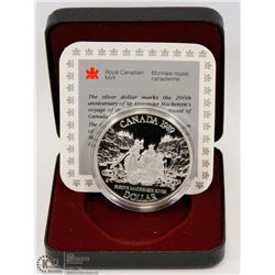 1989 CANADIAN PROOF SILVER DOLLAR IN DISPLAY