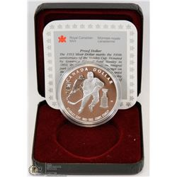 1993 CANADIAN PROOF SILVER DOLLAR IN DISPLAY
