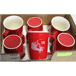"""6 NEW MOLSONS """"I AM CANADIAN"""" BEER STEIN MUGS."""