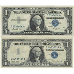 1957 $1 AU/Unc Silver Certificate Currency Lot of 2