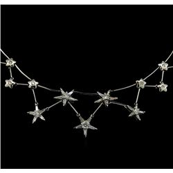 3.00 ctw Diamond Necklace - 18KT White Gold